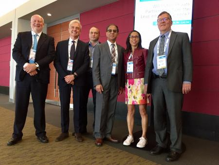 L-R Pierre Meulien, Carlo Incerti, Nikolay Savchuk, Shyam Bishen, Gail Gannon (BIO Programme Committee), David Wholley