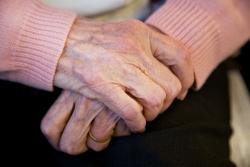 Hands of an older person